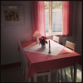 Svinkløv Badehotel - lyserød stue